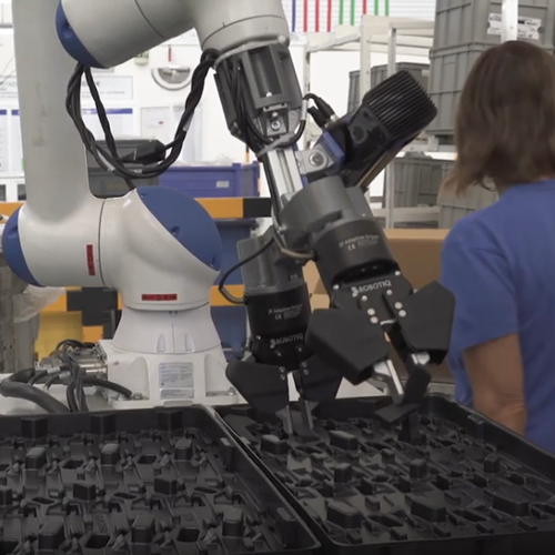 Vision Picking and Packing with Cobot